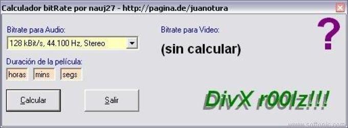 Calculador Bitrate