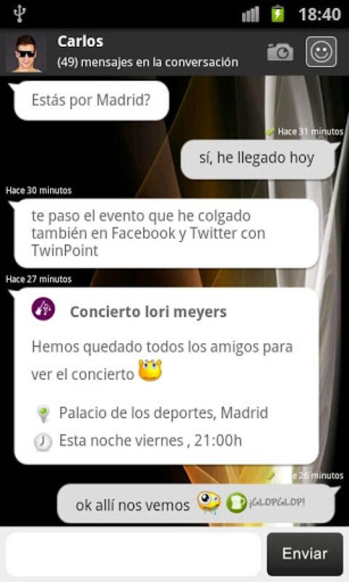 Twin Mobile Chat & SMS Gratis