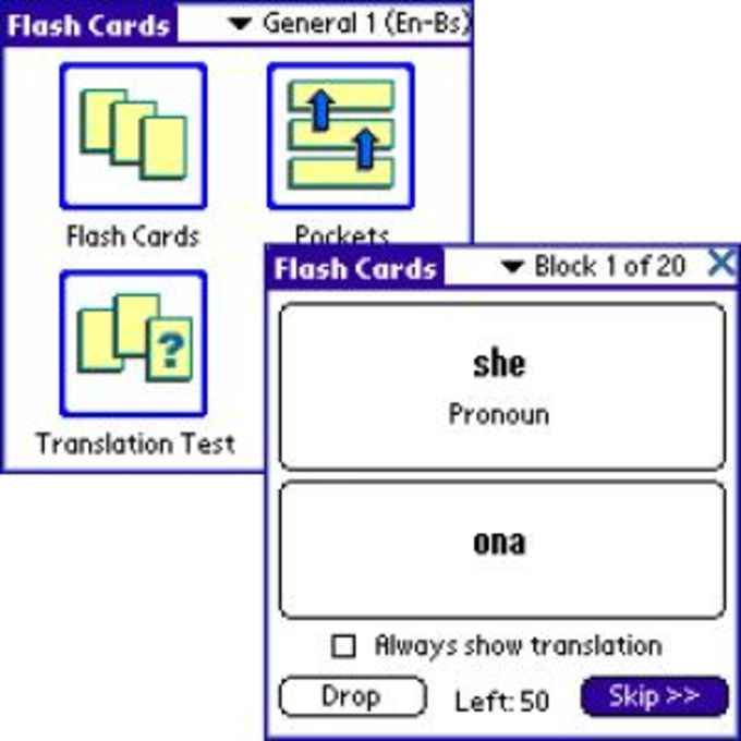 ECTACO FlashCards English - Bosnian
