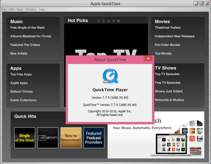 quicktime 7.7.9 per windows