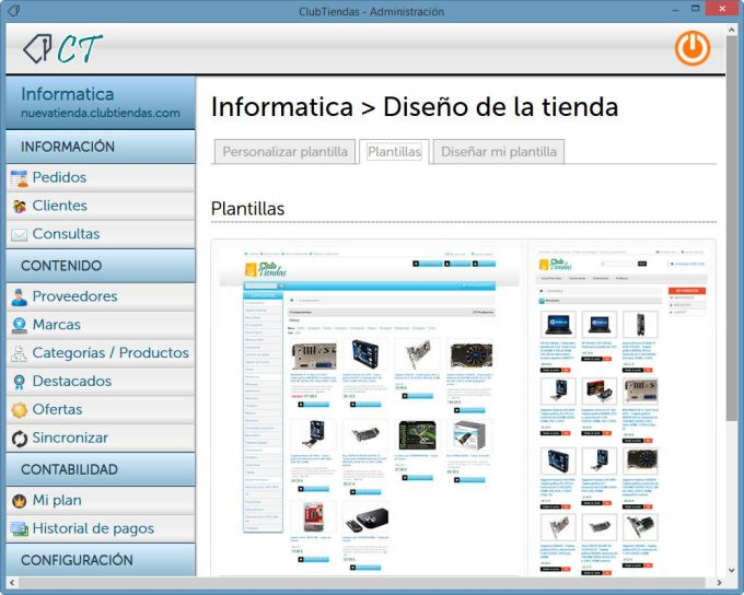 ClubTiendas : Crea tu tienda virtual