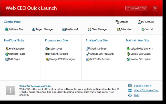 Web CEO Suite FREE download