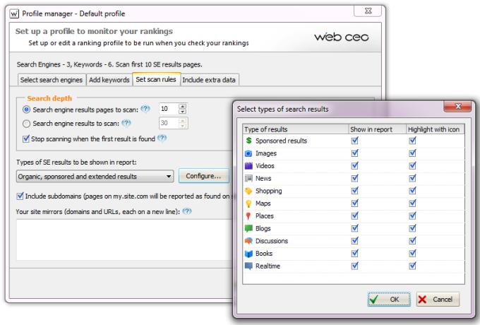 Web CEO Rank Checker SEO Tool