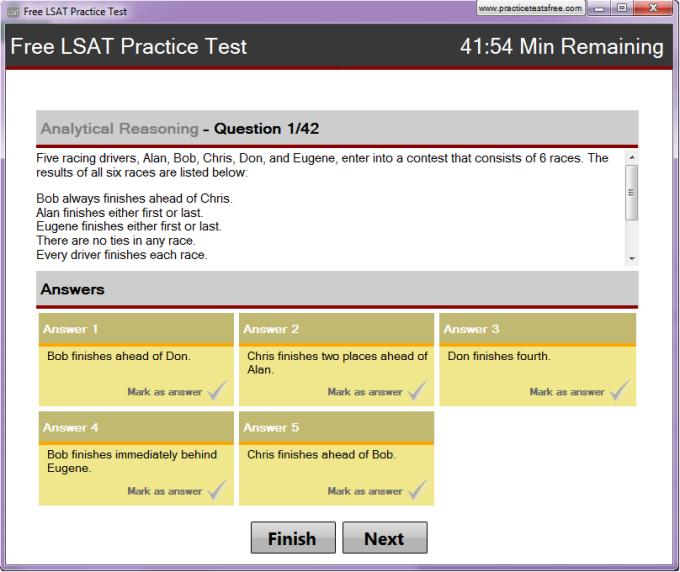 Free LSAT Practice Test