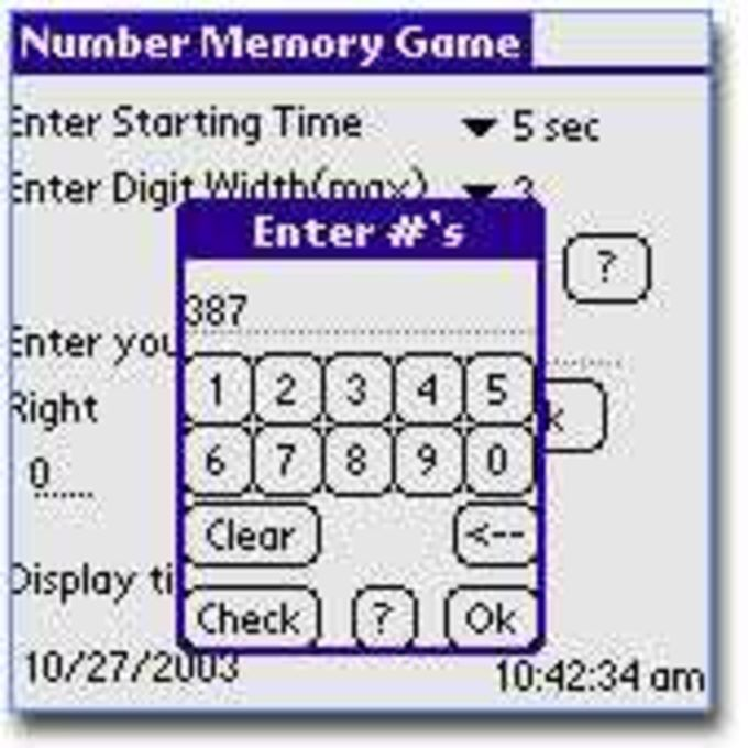 Number Memory Guessing Game