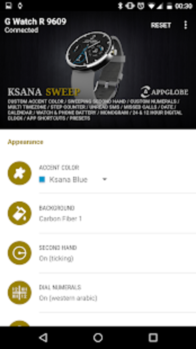 Watch Face - Ksana Sweep for Android Wear OS