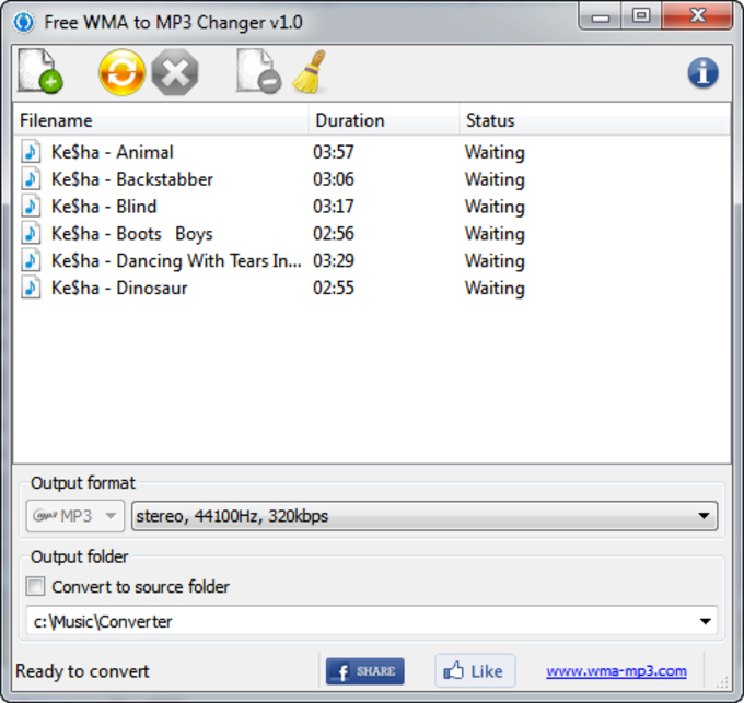 Free WMA to MP3 Changer