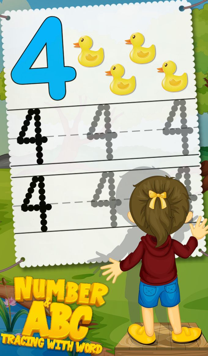 Number & ABC Tracing With Word