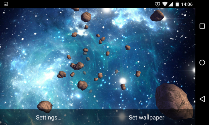 3D Asteroids Live Wallpaper