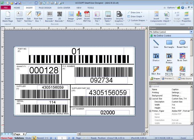 SmartVizor Barcode Label Printing Software  V12.1