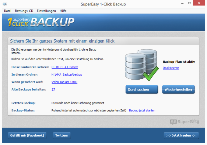 SuperEasy 1-Click Backup