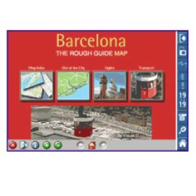Rough Guide Map Barcelona