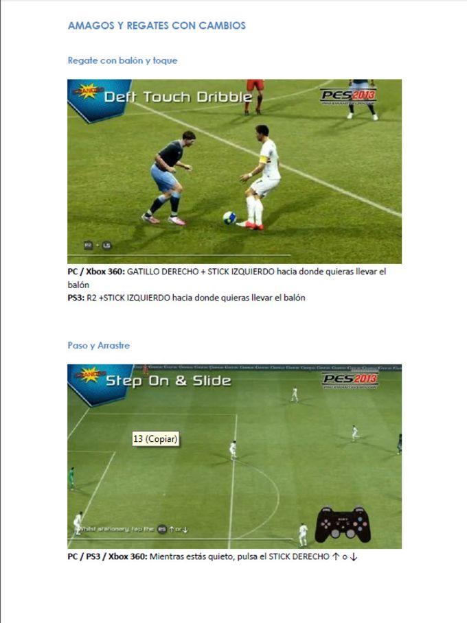 Guía de Pro Evolution Soccer 2013