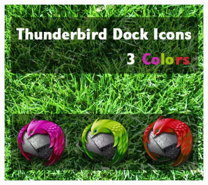Thunderbird Colors Dock Icons