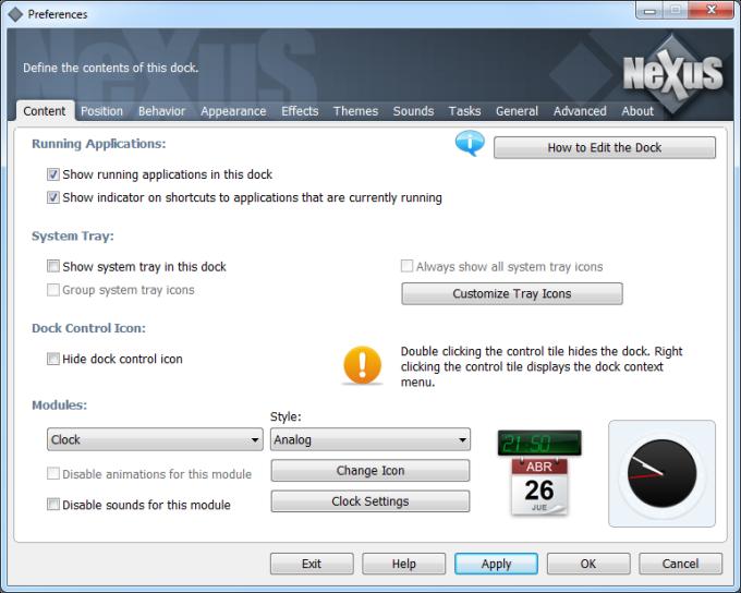 nexus dock download