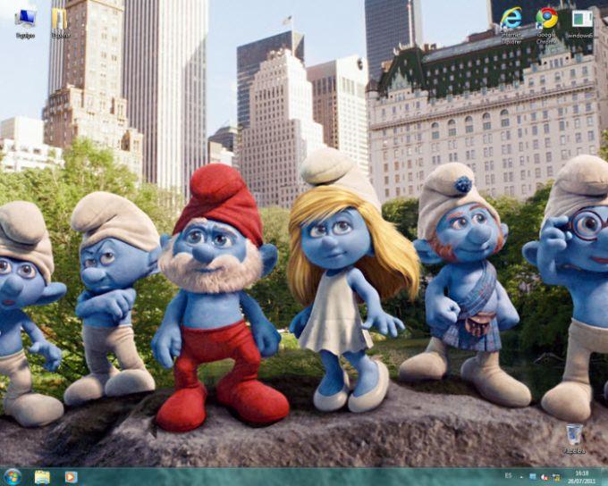 Smurfs 3D theme pack