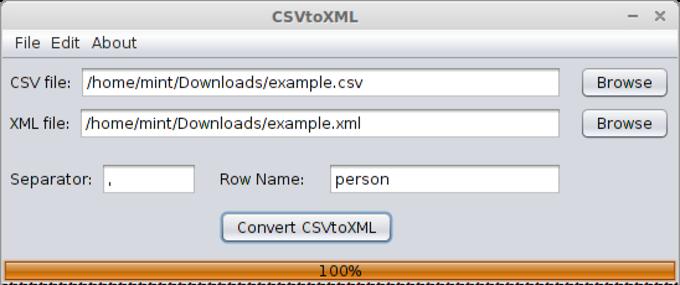 CSVtoXML