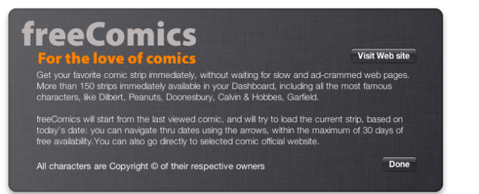 freeComics Widget