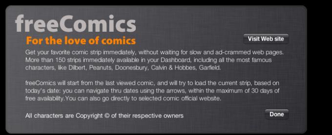 freeComics Widget