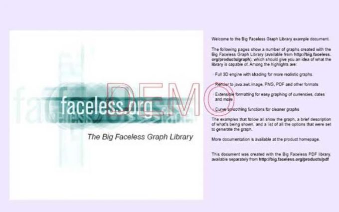 Big Faceless Java PDF Library