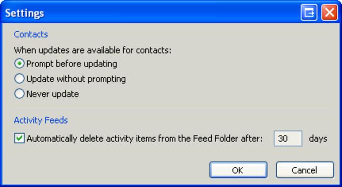 Proveedor de Microsoft Outlook Social Connector para Facebook