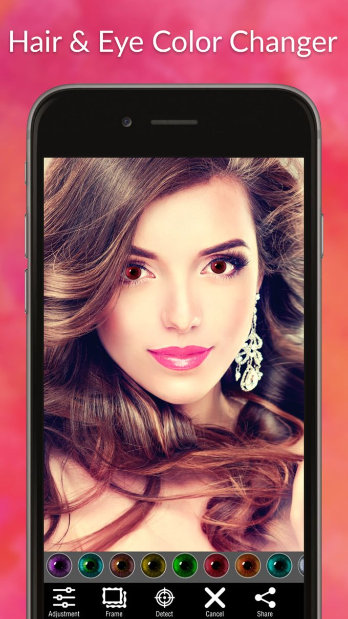 Hair Color Changer & Eye Color Changer - Beautify Hairstyle with perfect makeup editor