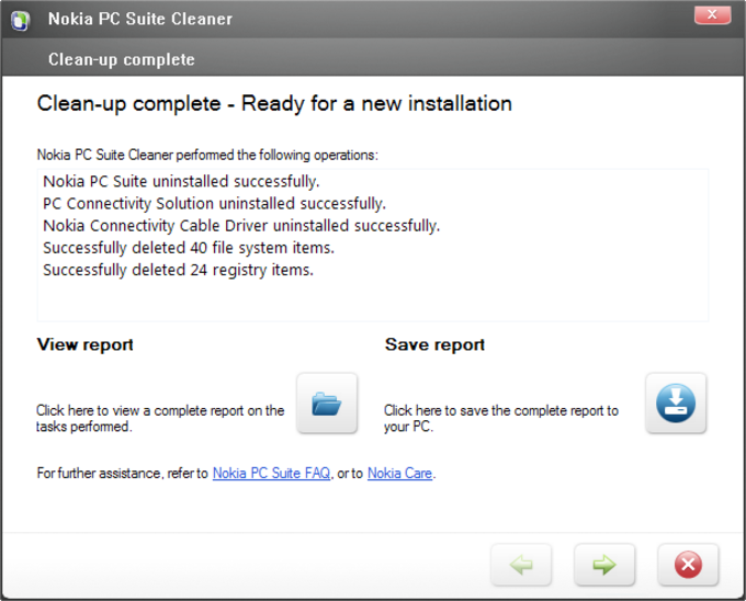 Nokia PC Suite Cleaner