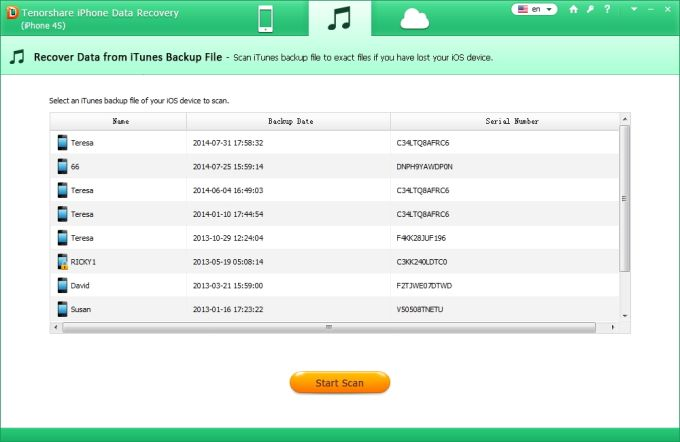 Tenorshare iPhone 4S Data Recovery