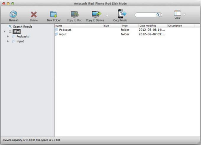 Amacsoft iDevice Disk Mode for Mac