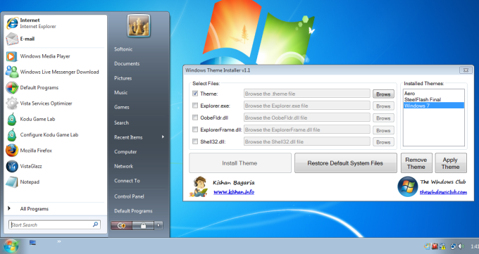 Windows Theme Installer