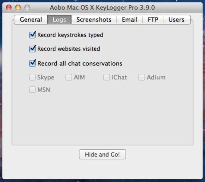 Aobo Keylogger for Mac Standard