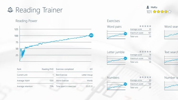 Reading Trainer for Windows 10