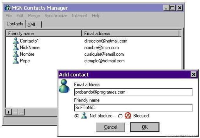 MSN Contacts Manager