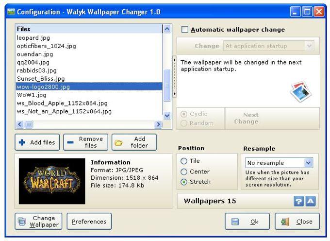 Walyk Wallpaper Changer