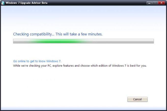 Windows 7 Upgrade Advisor