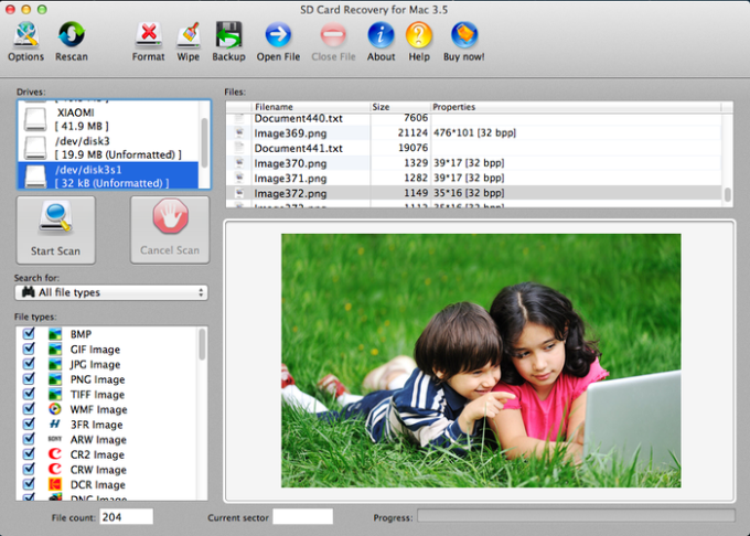AppleXsoft SD Card Recovery for Mac