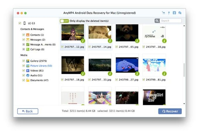 AnyMP4 Android Data Recovery for Mac