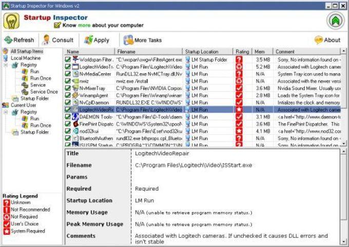 Startup Inspector for Windows