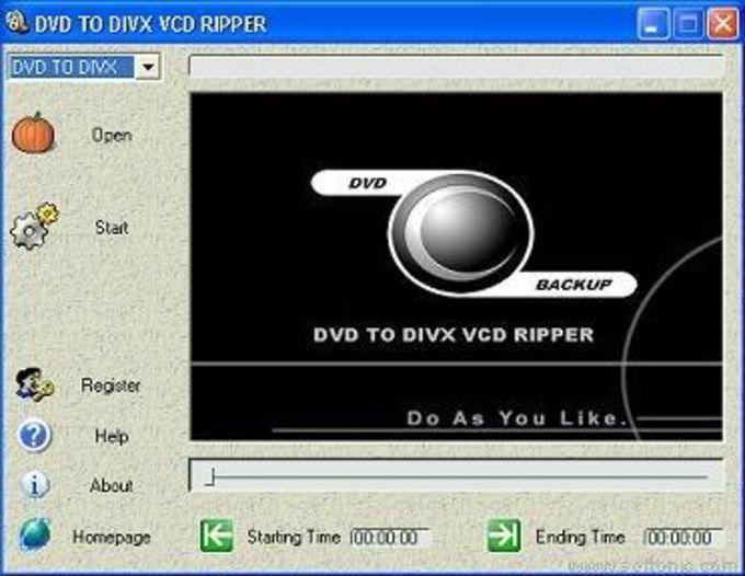 DVD To DivX VCD Ripper