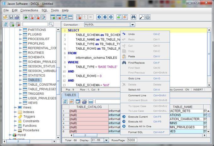 Uniserveral Database Tools - DtSQL