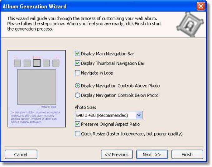 Web Album Generator