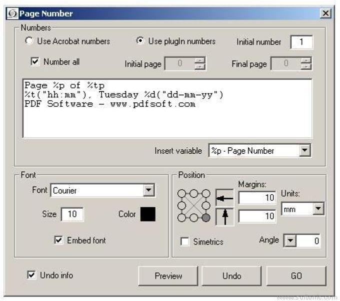 Addin PDF PageNumber (Acrobat 5)
