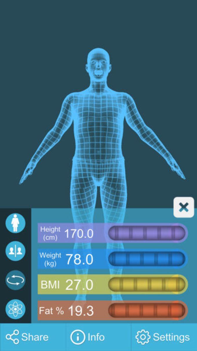 BMI 3D Pro (Body Mass Index Rechner)