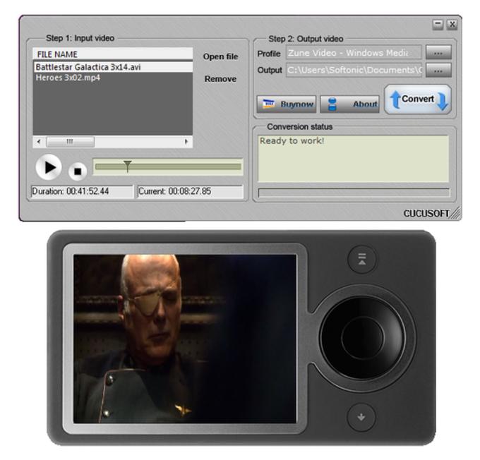 Cucusoft Zune Video Converter Suite