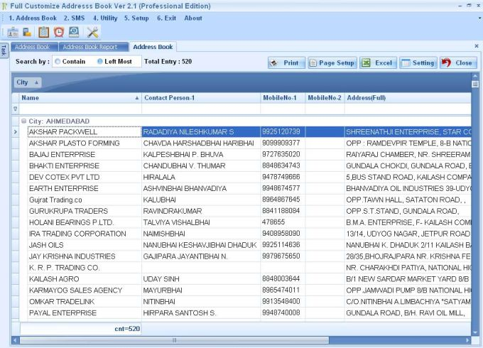 Full Customize Address Book