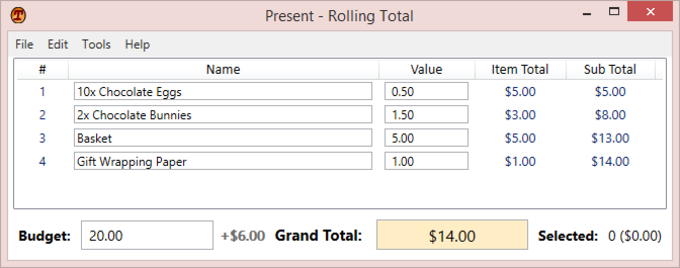 Rolling Total