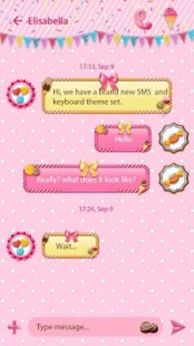 (FREE) GO SMS CANDIES THEME