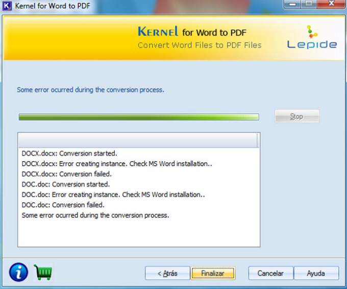 Kernel for Word to PDF