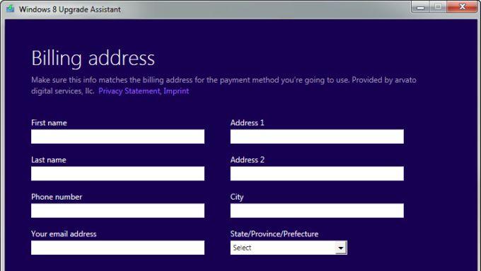 Asistente para actualización a Windows 8