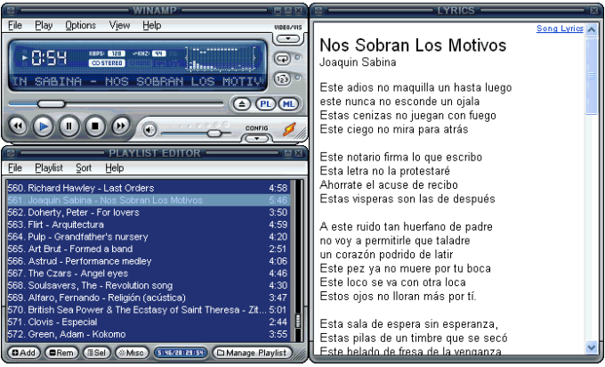 Lyrics Plugin pour Winamp